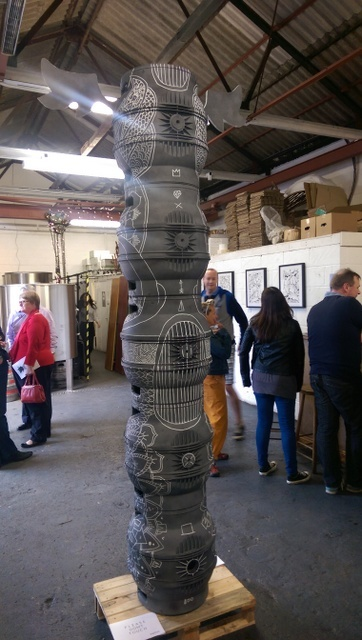 A beer keg totem pole in a local bar. Photo Tabish Khan