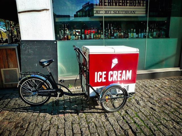 Ice cream bike on South Bank. Photo: Kathy Archbold (2014)