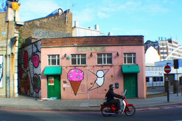 Stick ice cream street art near Brick Lane. Photo: liborius (2010)