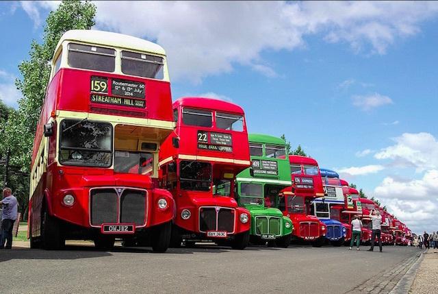 Routemaster 60 celebrations in Finsbury Park. Photo: Marta Oreja (2014)