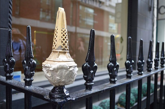 Ice cream railings in Fitzrovia. Photo: Matt (2014)