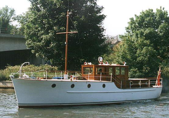 Mimosa pleasure boat, launched 1935.