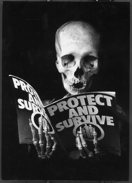 Skeletons appear throughout Kennard's work. Copyright Peter Kennard