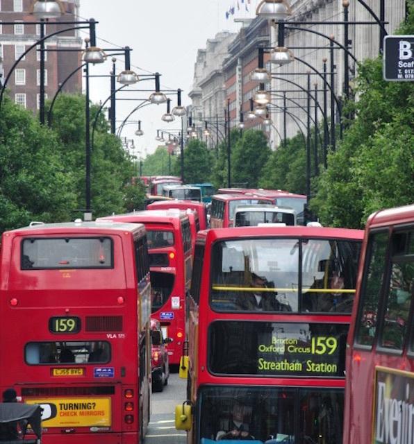 Traffic jam on Oxford Street. Photo: q... (2009)
