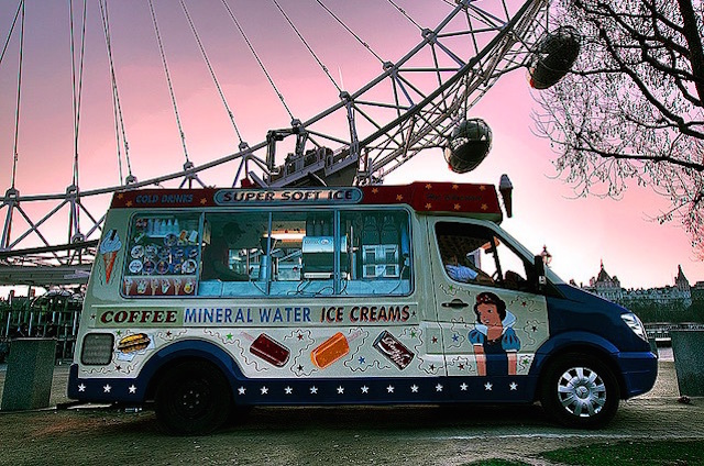 Ice creams by the London Eye. Photo: Ray Wise (2009)