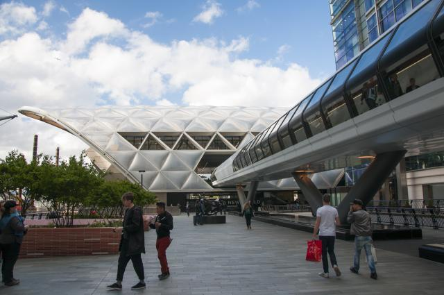 Outside the Crossrail station. Photo by Andy Thornley.