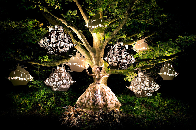 Ships seem to be growing on trees and lighting up. Copyright Kirsty Mitchell