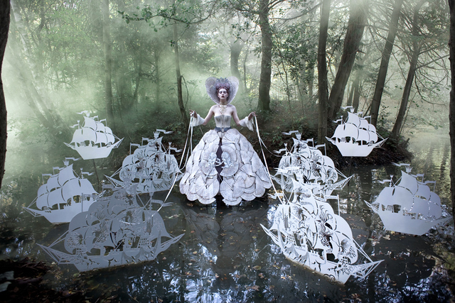 Ships on leashes feel normal given the subject matter in the other images. Copyright Kirsty Mitchell