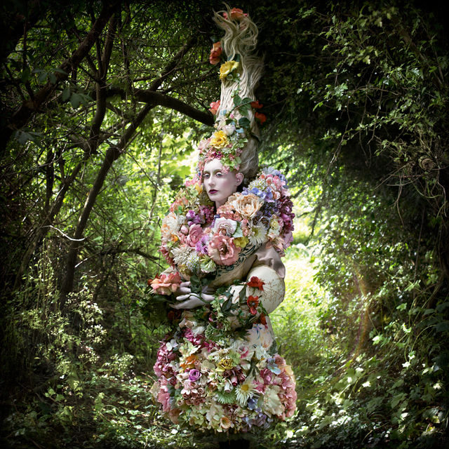 Spring has sprung in this mix of the verdant and the floral. Copyright Kirsty Mitchell
