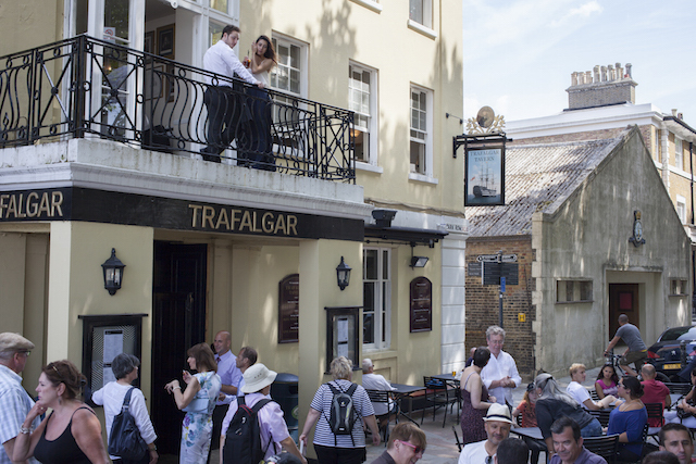 The famous Trafalgar Tavern