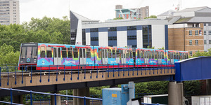 DLR Train Turns All The Colours Of The Rainbow