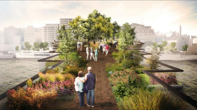 Plans For The Garden Bridge. Image By ARUP.