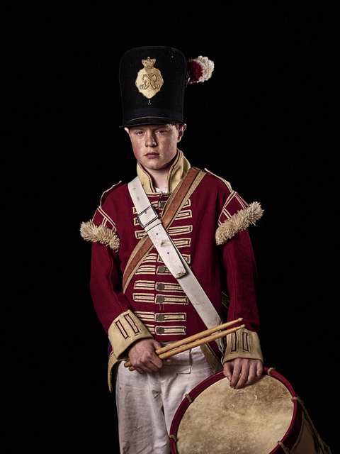 A drummer boy from the British 52nd Regiment. © Sam Faulkner