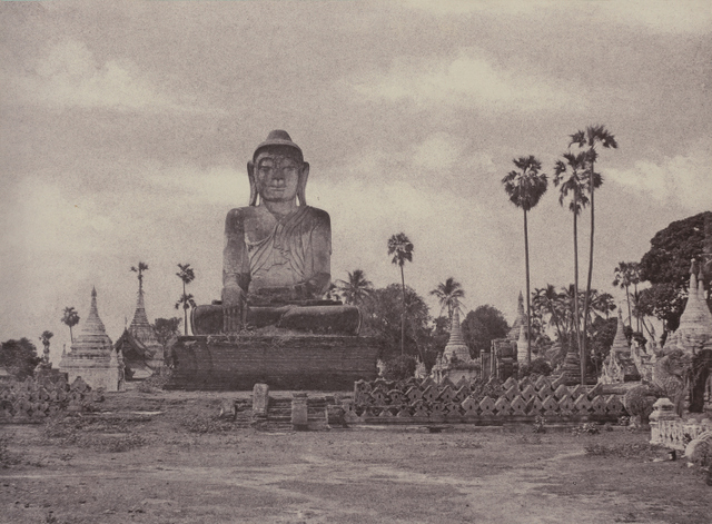 A colossal statue of Buddha in Burma (Myanmar). Collection of Charles Isaacs & Carol Nigro.