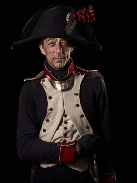 A captain in the French 8th Infantry Regiment. © Sam Faulkner