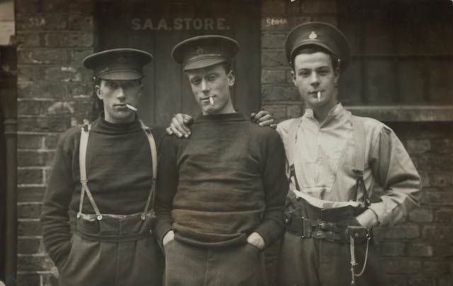 Life Guards S. Raper, Sidney Crockett and William H. Beckham, 13 September 1915 © Museum of London