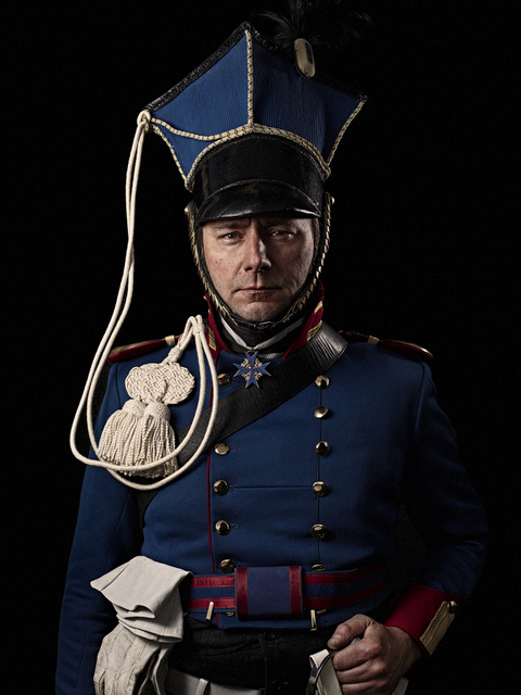 A cavalry officer in the Prussian army. © Sam Faulkner