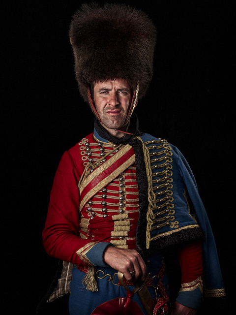 A lieutenant in the French Hussars (light cavalry). © Sam Faulkner