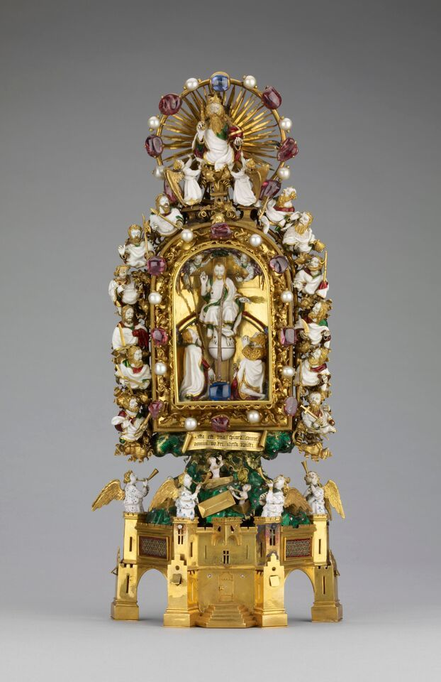 This reliquary supposedly holds one of the thorns from Christ's crown of thorns. © The Trustees of the British Museum