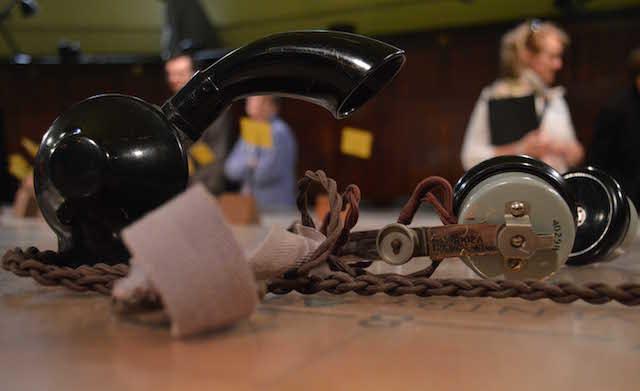 An operator's headset. Photo Sandra Lawrence.