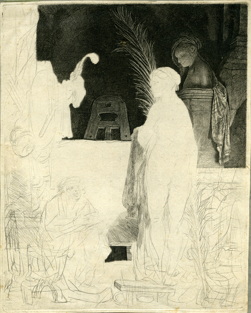 This sketch by Rembrandt may be unfinished, but he did circulate it. Maybe so others could learn from his technique. Copyright The Courtauld Gallery