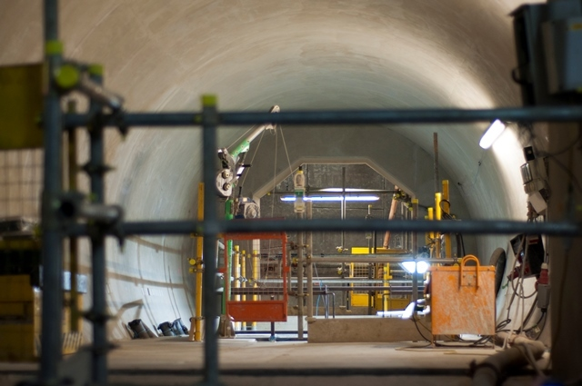 One of the four cross passages enabling emergency access between the tunnels