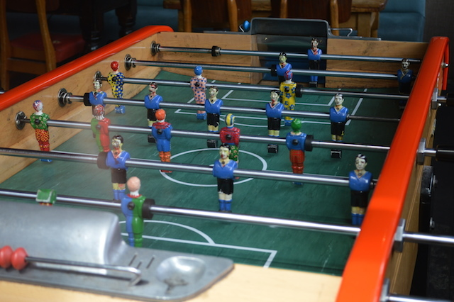 Scary table football.