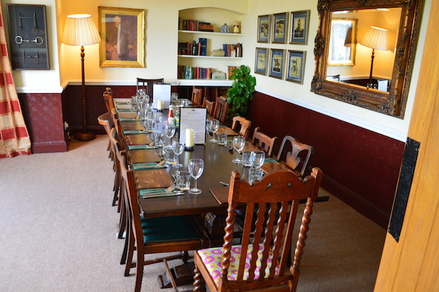 A private dining space for hire.