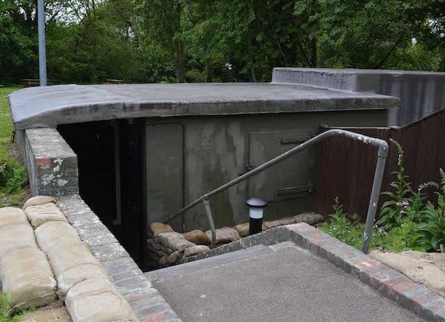 Entrance to the bunker. Photo Paul Lindus.