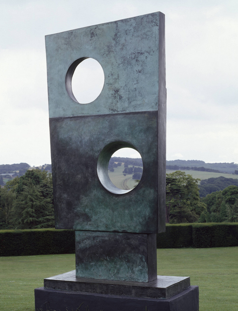 This massive sculpture is no longer outdoors and stands watch at the entrance to the exhibition. © Tate.
