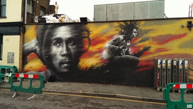 See brockley brightened with street art londonist for Bob marley mural