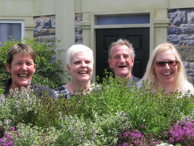 Staff and clients of St Mungo's whose hostel inspired the Community Street garden at Hampton Court Flower Show