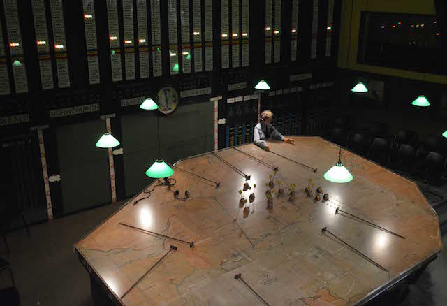 Map room from above. Photo Sandra Lawrence.