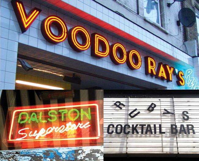 Famous Dalston Signs (Image: Sarah Hyndman)