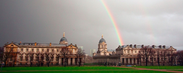 Rainbow over the Royal Naval College in Greenwich. Photo: Noel Markham (2009)