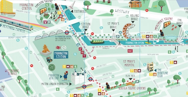 Sneak preview of the trail map -- pick up yours in Paddington Station and the official Paddington Bear Shop