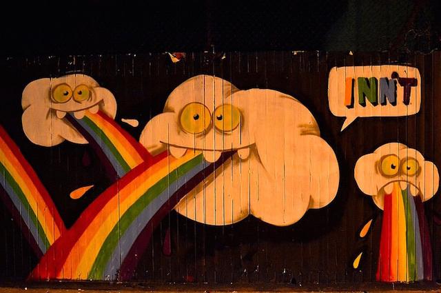 Graffiti on Fashion Street, east London. Photo: psyxjaw (2014)