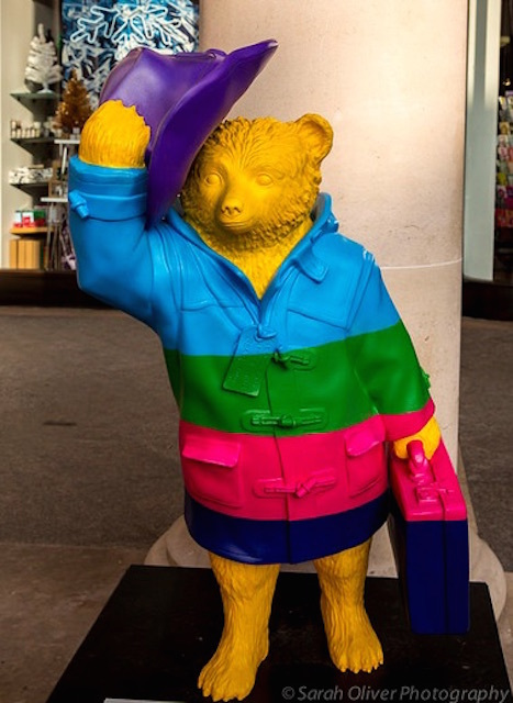 Paddington Bear statue designed by Darcy Bussell. Photo: Sarah Oliver (2014)