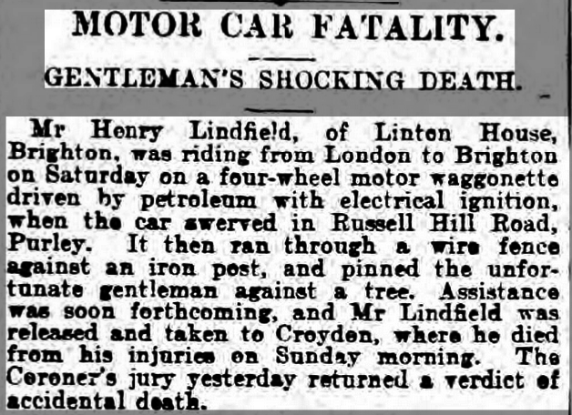 London's First Motor Crashes