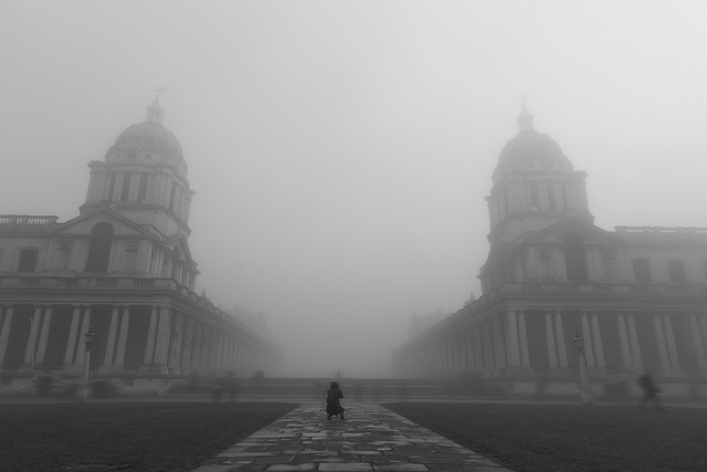 Another photographer trying to capture the Royal Naval College. Copyright Albert Zhang.