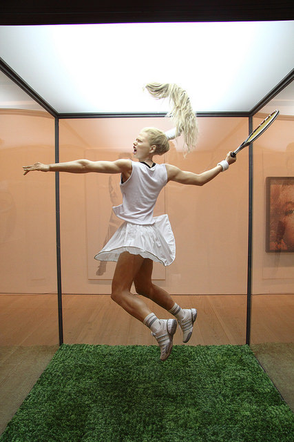 Tennisplayer from the Series Museum of Nature by Oleg Kulik (2002). Photo: Jon Spence (2015)