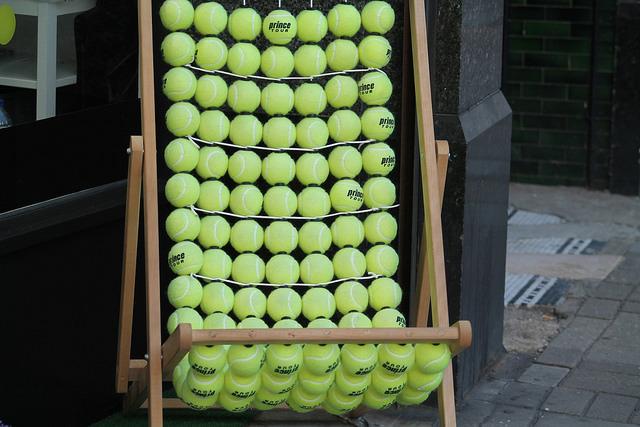 Reckon this deckchair at Wimbledon is actually comfortable? Photo: Philomena Plunkett (2015)