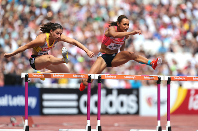 Great Britain's Jessica Ennis Hill in action. Photo: Action Images / Paul Childs