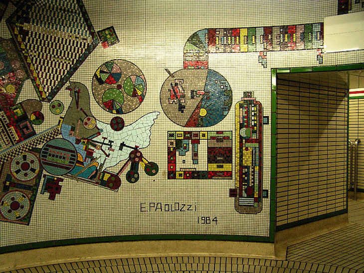 Paolozzi Mosaic at Tottenham Court Road Station. Photo: John Keogh (2005)