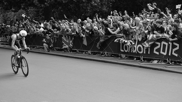 Alistair Brownlee at London Olympic Men's Triathlon Final in Hyde Park. Photo: Darren Johnson (2012)