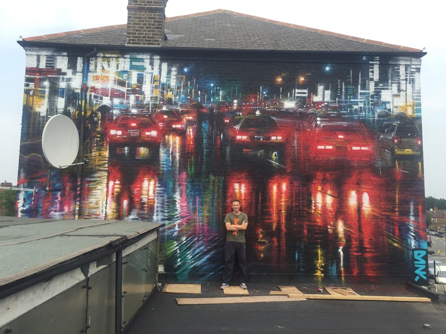 Another mural from the Brockley Street Art Festival -- this one by Dan Kitchener.