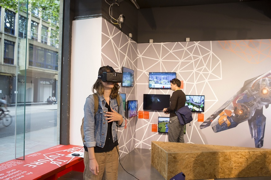 D Virtual Reality Exhibition : See the future through virtual reality at building