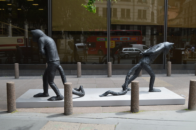 Days of Judgment - Cats I & II by Laura Ford. A welcome bit of surrealism on Gracechurch Street.