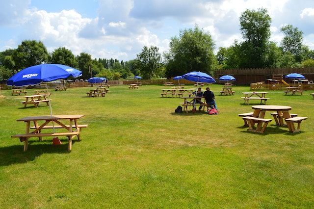 Huuuuge beer garden