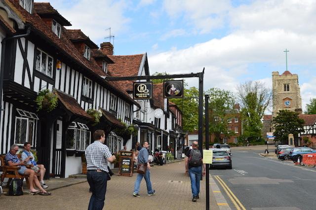 Tudor high street.